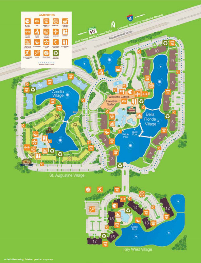 Sheraton Vistana Resort Map Resort Map   Sheraton Vistana Villages